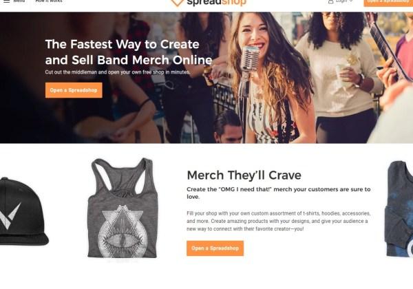 Sell band merchandise online Spreadshirt T-shirt Shops