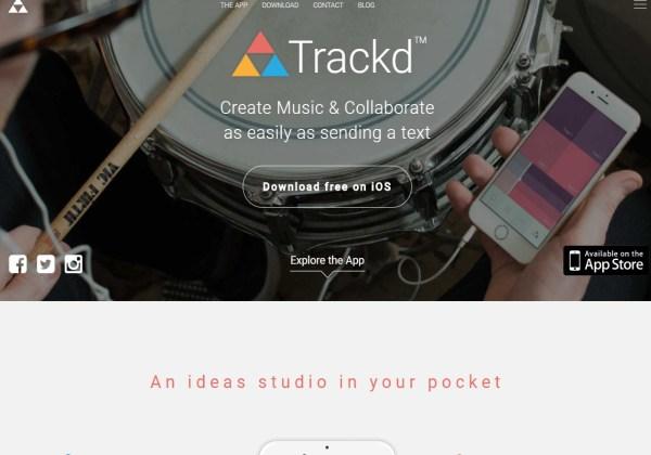 Trackd iOS 8 track recording app
