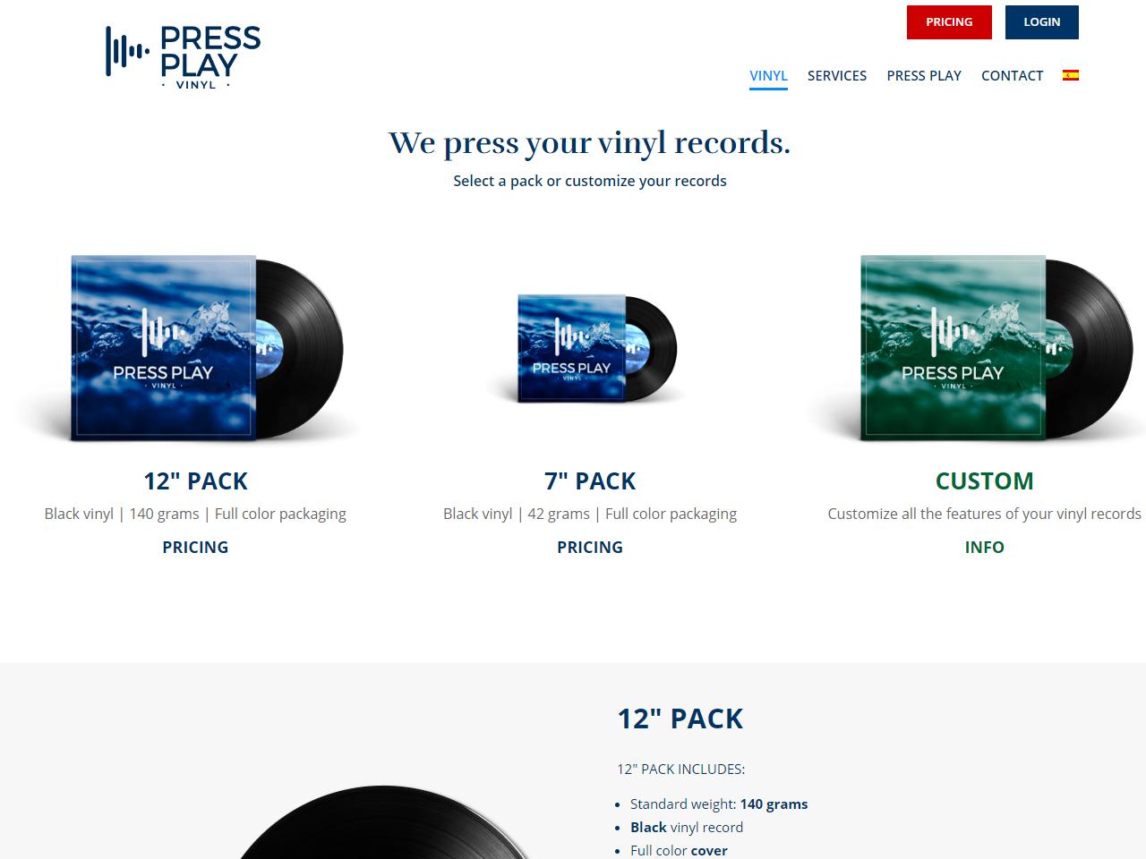 Vinyl records pressing in Spain Press Play Vinyl