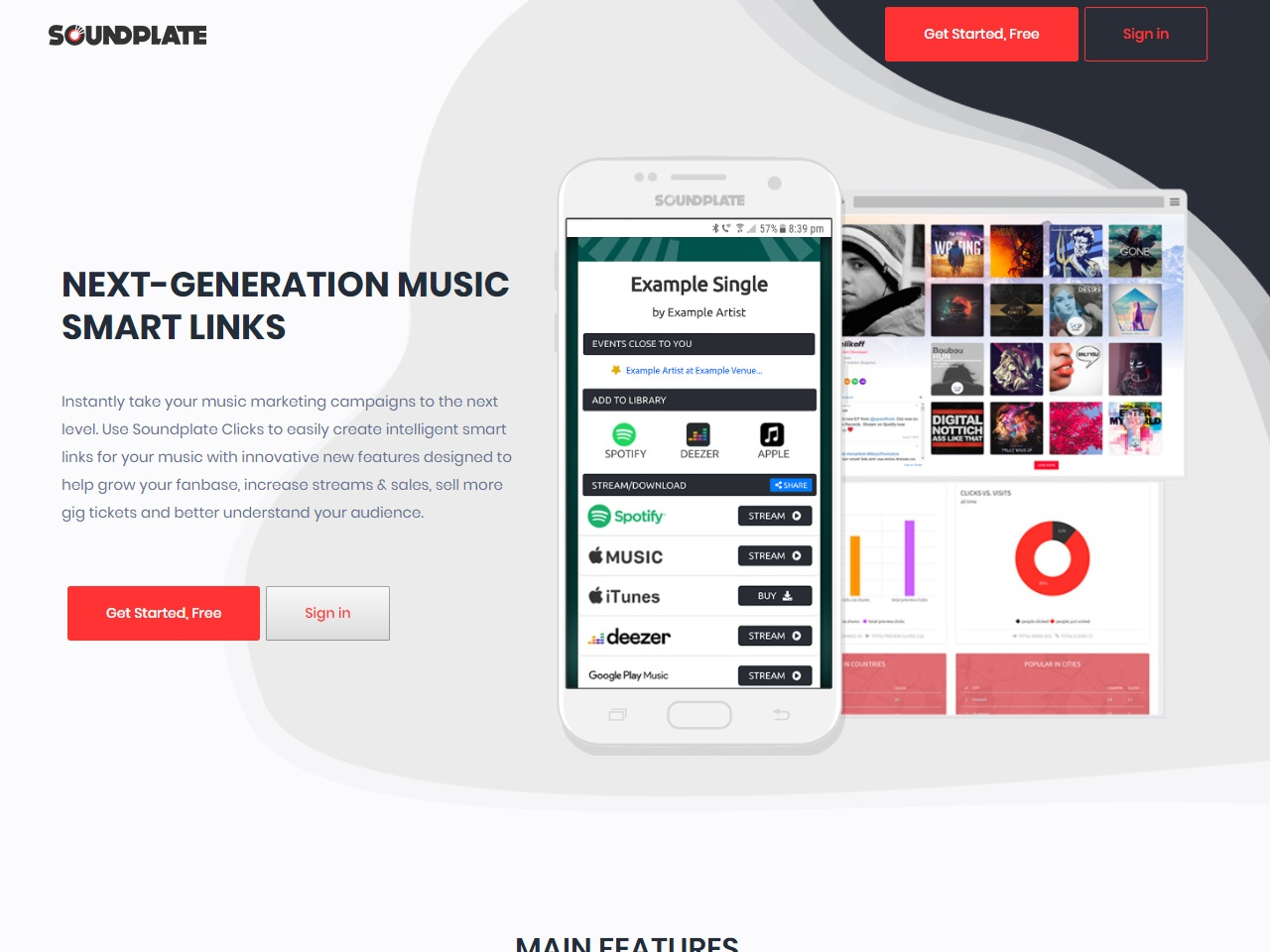 Soundplate Clicks Smart Links for Music Marketing