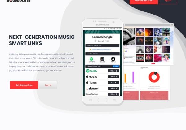 Soundplate Clicks Smart Links for Music Marketing