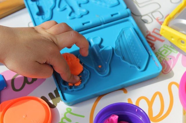 increase language skills with playdough