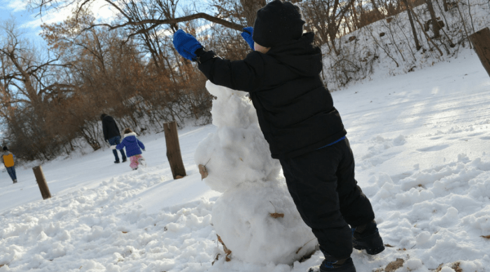 language activities for a snow day