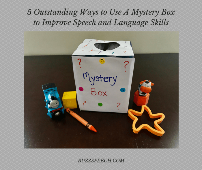 5 outstanding ways to use a mystery box to improve speech and language skills