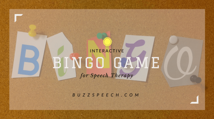 Bingo Game for Language Therapy