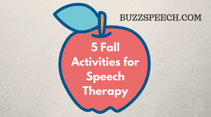 5 Fall Activities for Speech Therapy