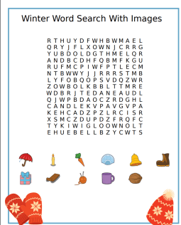 Winter Vocabulary Word Search