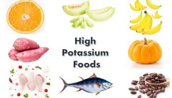 High potassium food items for your health