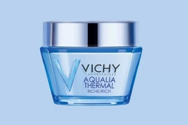 Vichy Aqualia Thermal Face Moisturizer Rich Cream with Hyaluronic acid