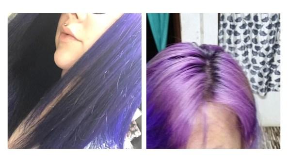 Color depositing shampoo, Purple hair dye shampoo and conditioner
