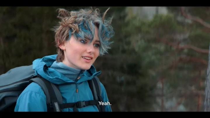 EPpvYlva Bjørkaas Thedin in blue hair in ragnarok