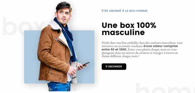 box mensuelle homme luxe