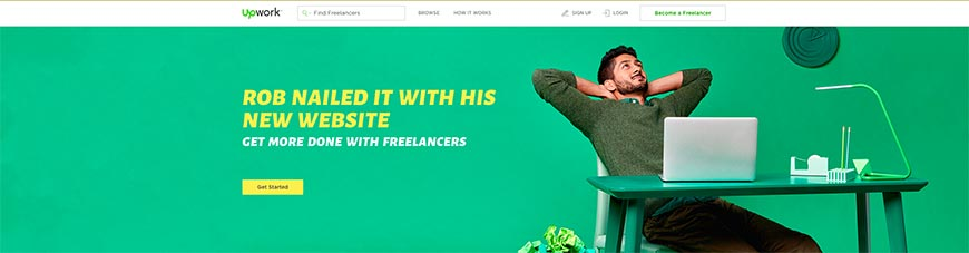 Sitio web freelance upwork