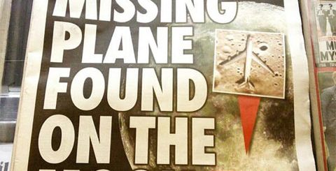 Missing Malaysian plane found on the moon