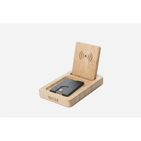 repose telephone pour bureau en bambou