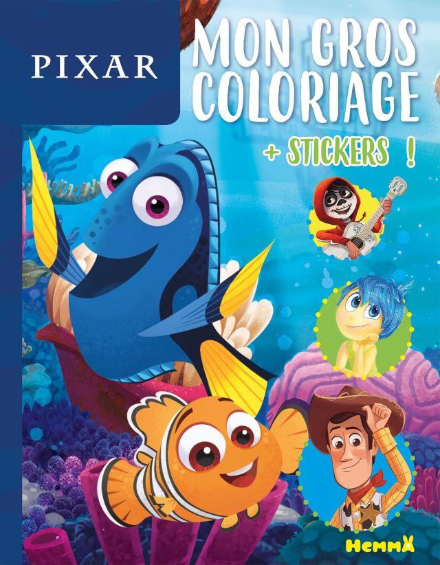 Disney Pixar - Mon gros coloriage + stickers ! Nemo et Dory Pas