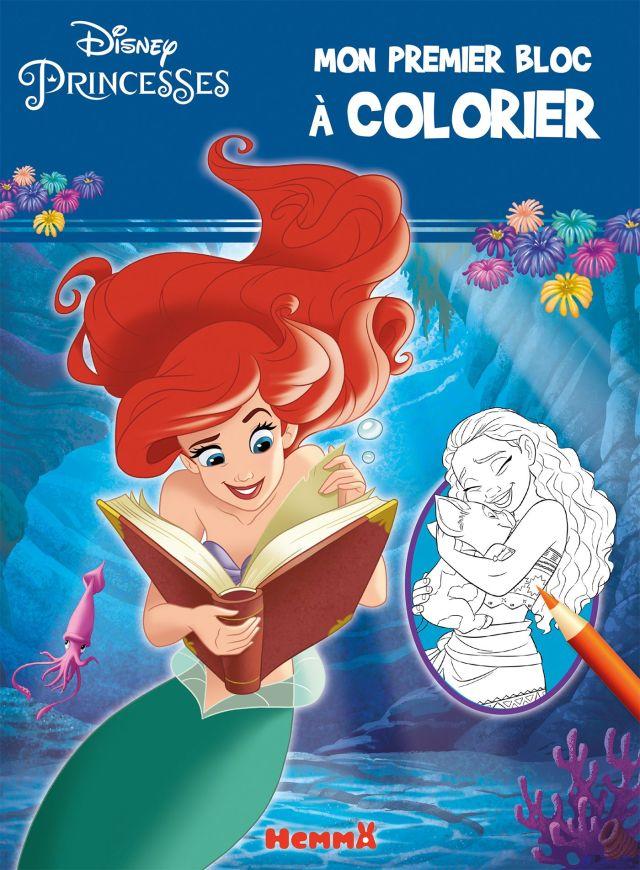 Disney princesses - Mon premier bloc à colorier - Ariel et Vaiana