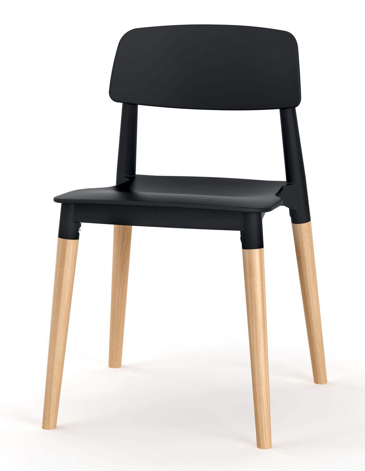 chaise scandinave pieds bois noir