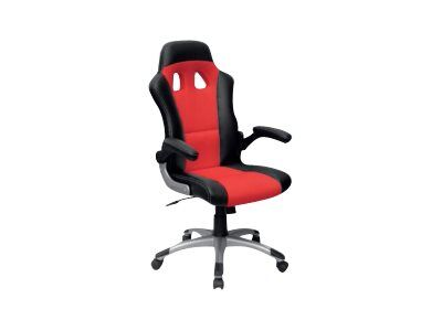 fauteuil gamer racer accoudoirs rabattables noir et rouge