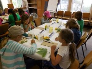 Summer Camp 2016 leaf art