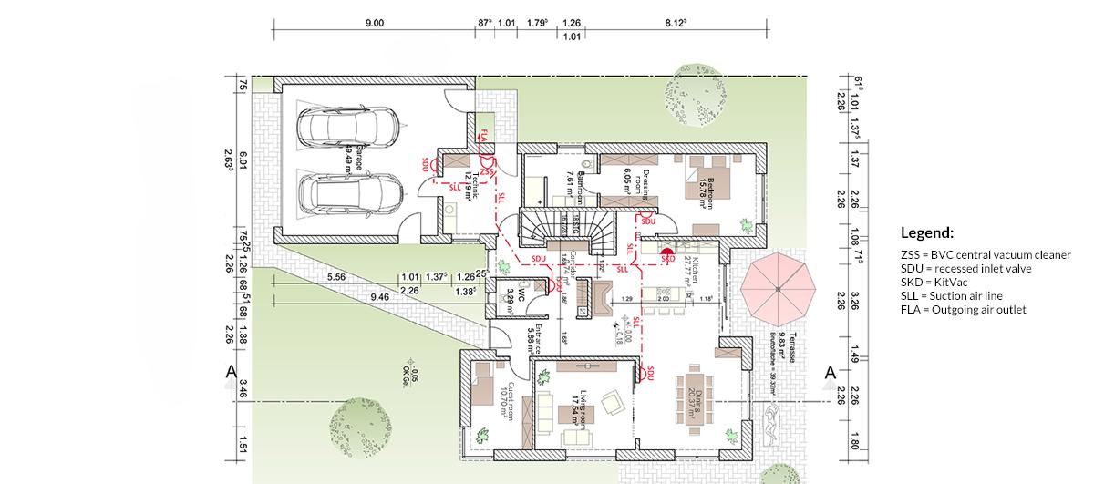 planning service bvc zentralstaubsauger