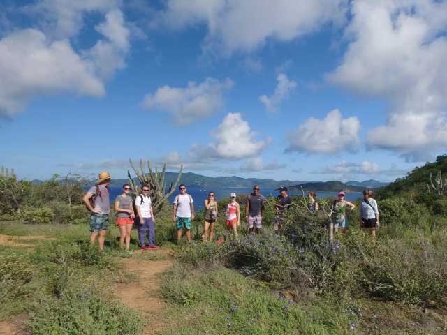 BVI Hiking Tour at Norman Island