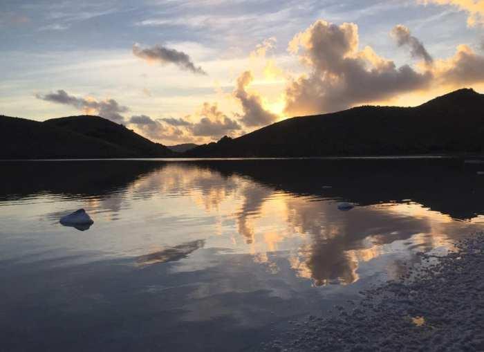 Salt Island Salt Pont Sunset Reflection