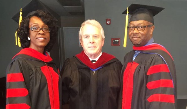 The Hoytes are pictured as they received their Yoke Fellow Award from Masters International University. This is awarded to couples in special recognition of the unity and bond shared both in study and ministry. (Photo Credit: First Assembly of God)