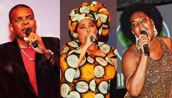 Calypsonians (left to right) - King Paido, Queen Shereen, and Sistah Joyce