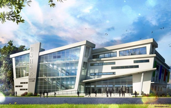 The design of the new school building posted by the minister