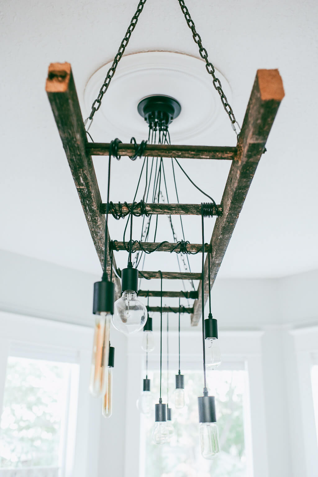 How to make a diy industrial edison bulb chandelier b vintage style how to make a diy industrial edison bulb chandelier aloadofball Gallery