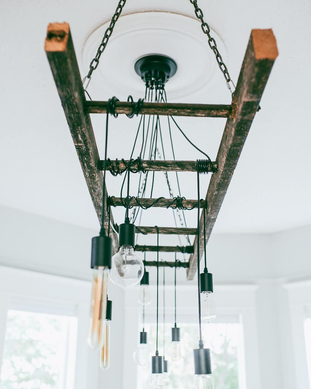 How To Make A DIY Industrial Edison Bulb Chandelier