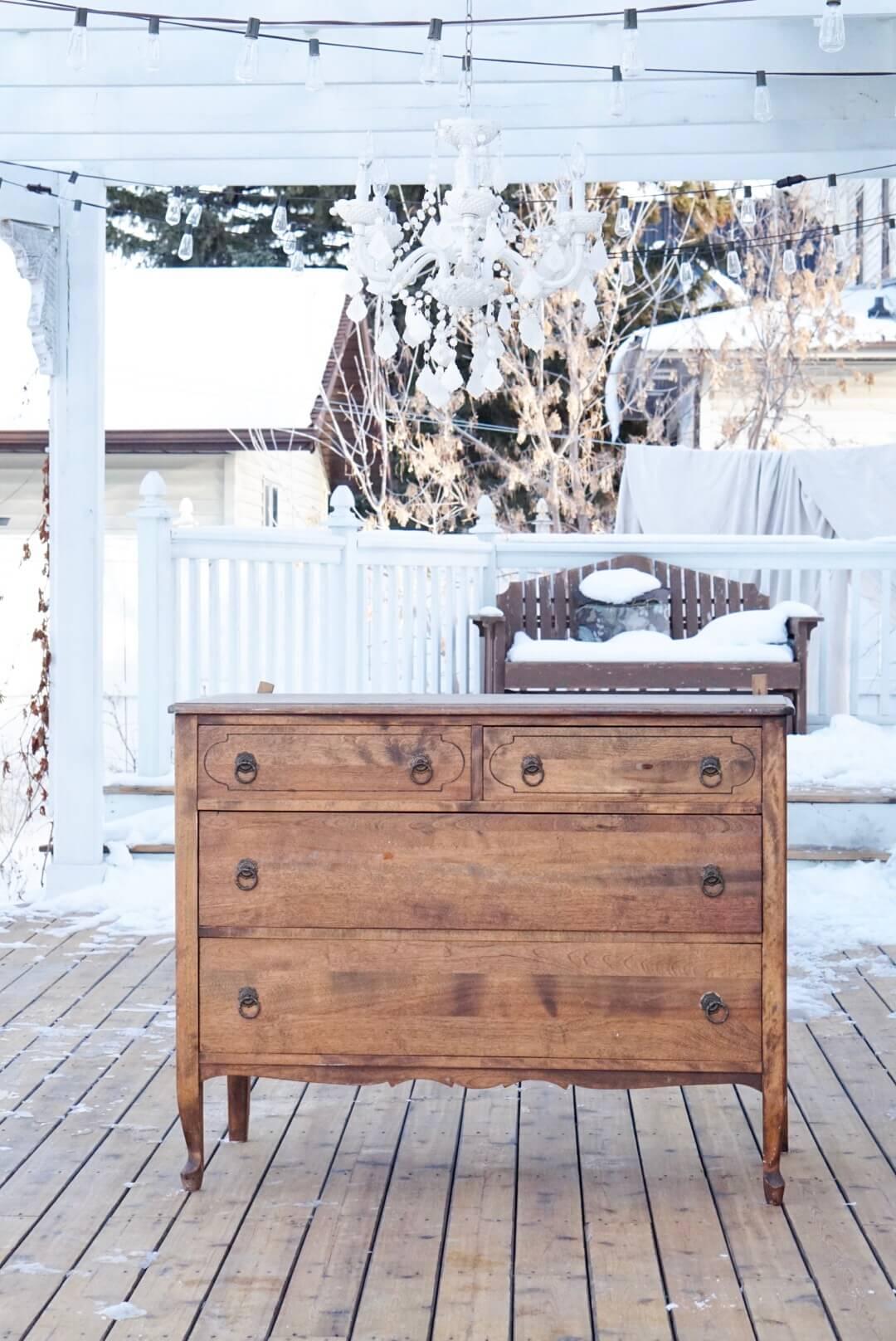 antique original finish dresser
