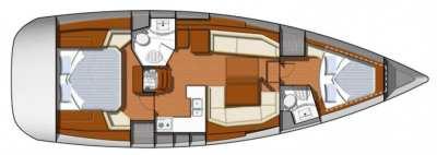 Jeanneau Sun Odyssey 42 DS Ocean Watch Layout