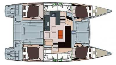 Fountaine Pajot Helia 44 Brahman layout