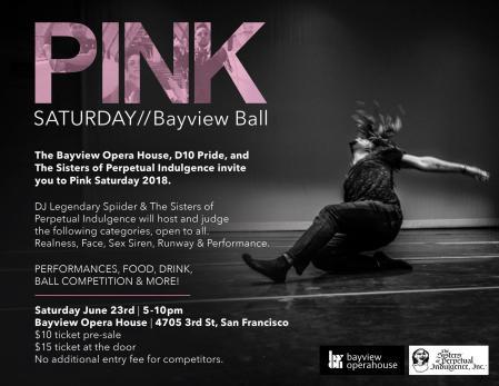 PINK Saturday - Bayview Ball