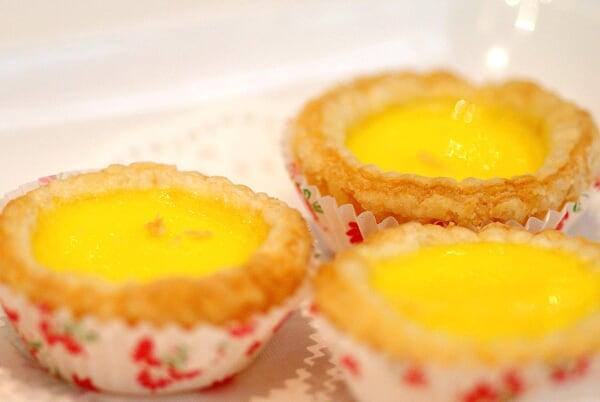 Baked Egg Custard Tartlet