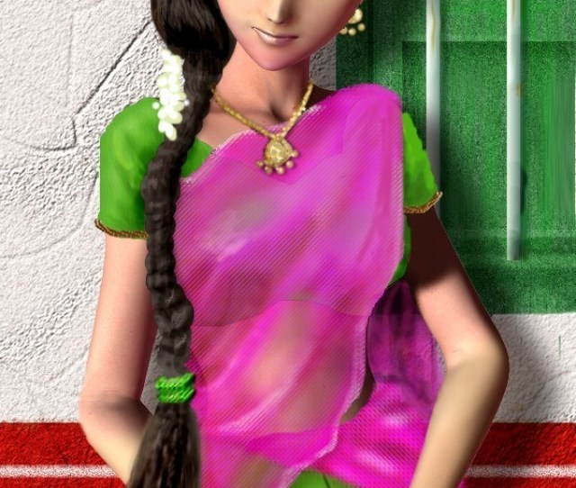 South Indian Girl In A Dhavani