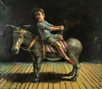 Michał Kwarciak, Osiołek, olej, 60 x 70