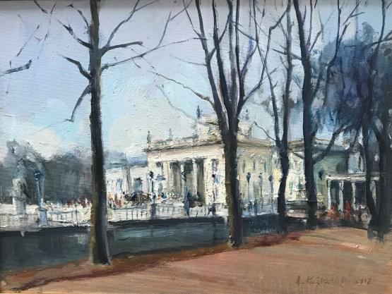 Adam Kunikowski, Warszawa Łazienki, 30 x 40, olej, 1320,00zł
