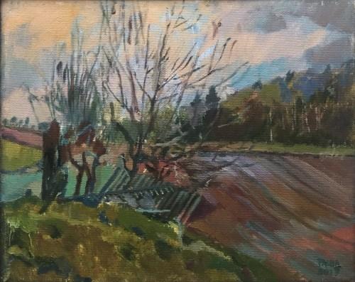 Damian Pacha, Oddech wiosny, olej, 21 x 27, 600,00zł