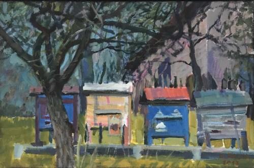 Damian Pacha, Ule, 20 x30, olej, 720,00zł