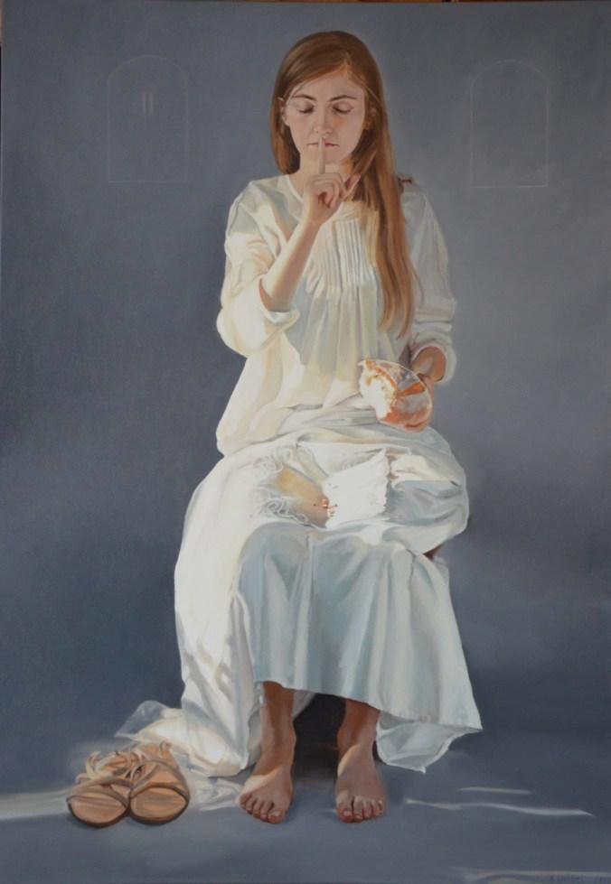 Przykazanie II, Dekalog, Ewa Bielecka (Wróbel), 100x70cm, olej na_płótnie