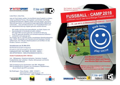 Fußballcamp 16