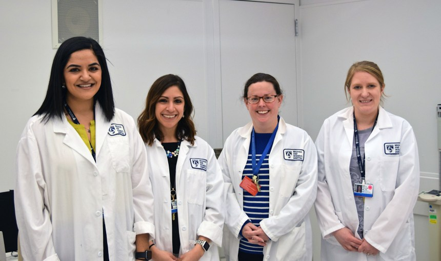 Members of the Nutrition and Metabolic Research Core, from left: Demsina Babazadeh, Kristina Metzler, Karen Yee and Kelly Fallon