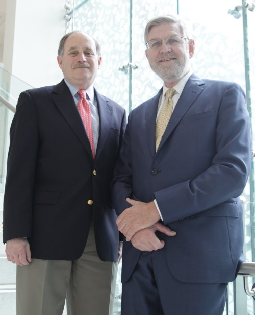 (L to R) Frederick Schoen, MD, PhD and Kirby Vosburgh, PhD.