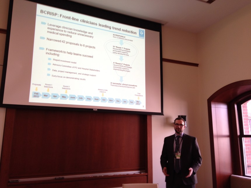 Karl Laskowski, MD, BWPO assistant medical director, speaks about BCRISP.