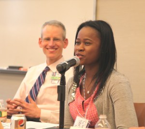 As part of a career panel discussion, Cherlie Magny-Normilus, FNP-C, BWH Division of General Internal Medicine and Primary Care, shares her path toward becoming a nurse practitioner.