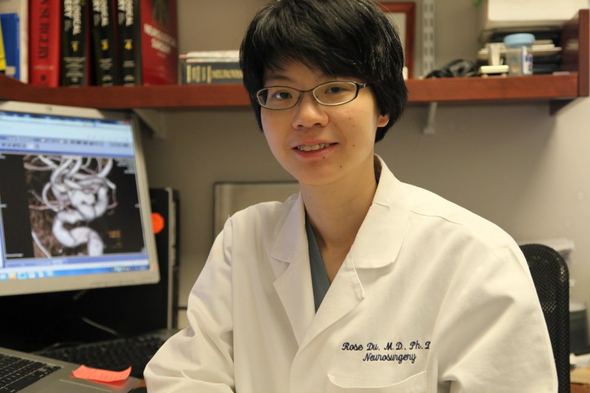 Rose Du, MD, PhD, finds the beauty in both brain research and patient treatment.
