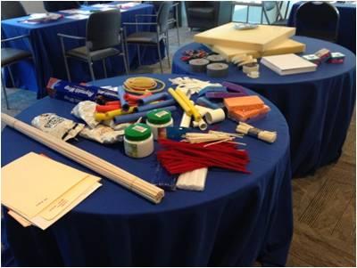 Using foam, aluminum foil, pipe cleaners, Slinkies and other prototyping materials, teams of clinicians, engineers and entrepreneurs designed prototype solutions for problems faced in clinical practice.